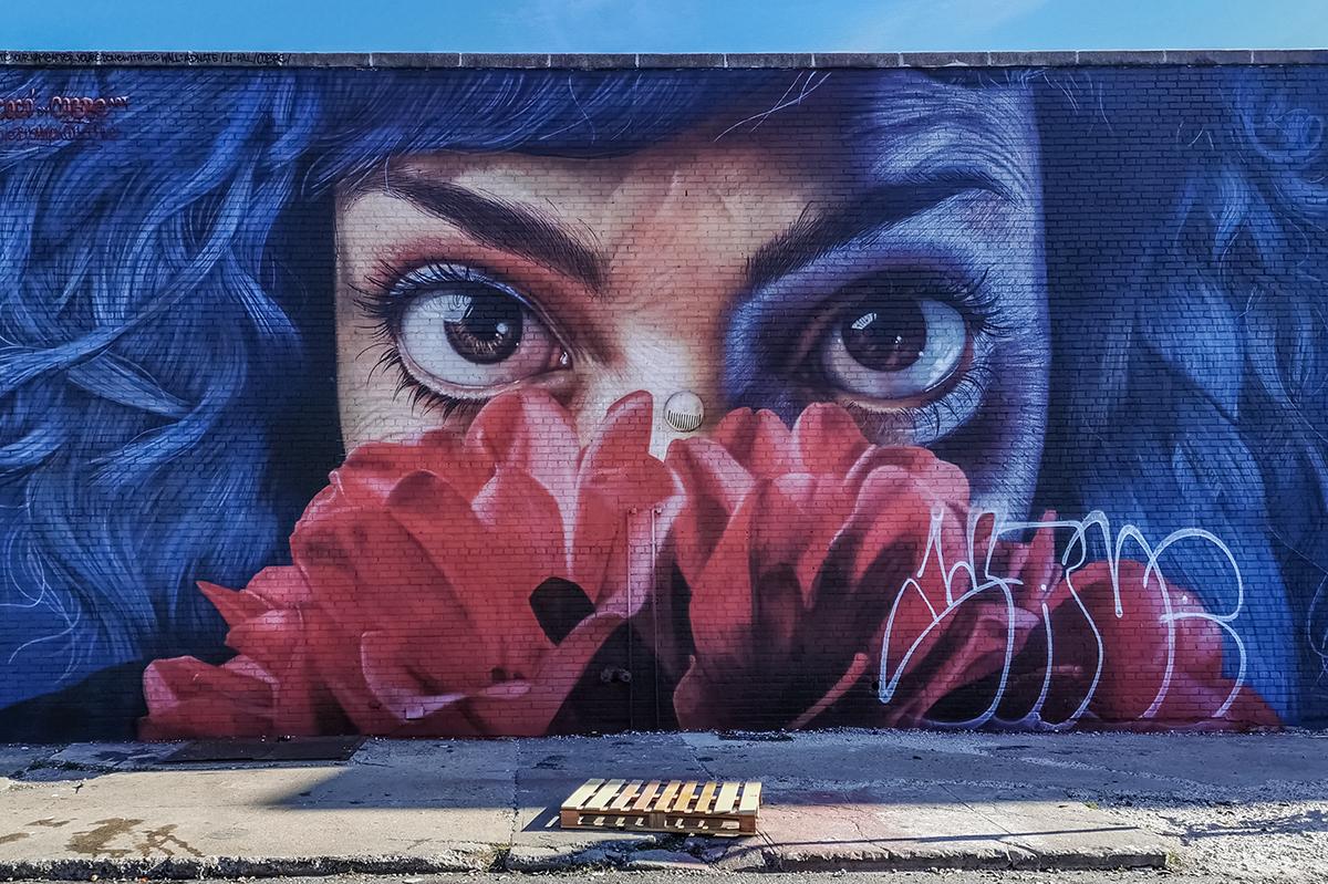 Bushwick Collective Mural Frau