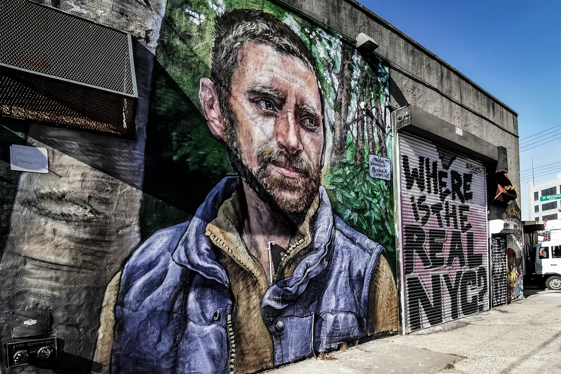Bushwick Collective Mural real NYC Mann