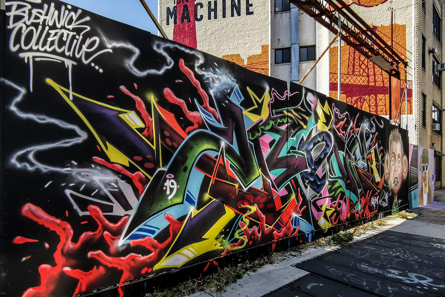 Bushwick Collective Mural Schrift
