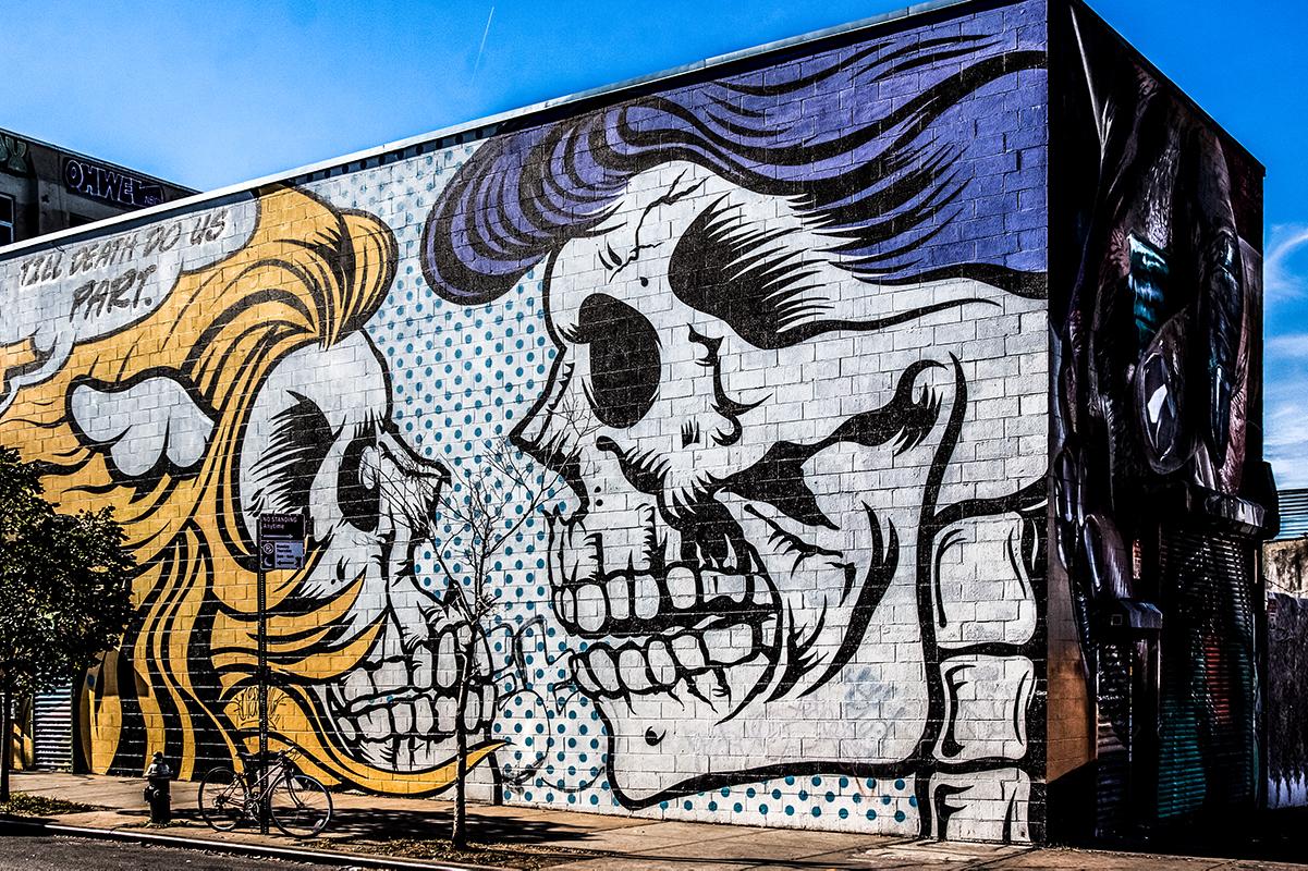 Bushwick Collective Mural Skulls