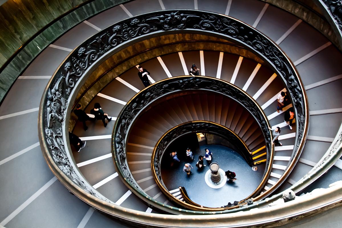 Rundtreppe in den Vatikanischen Museen